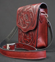 Load image into Gallery viewer, Zapopan Hand Tooled Leather Crossbody