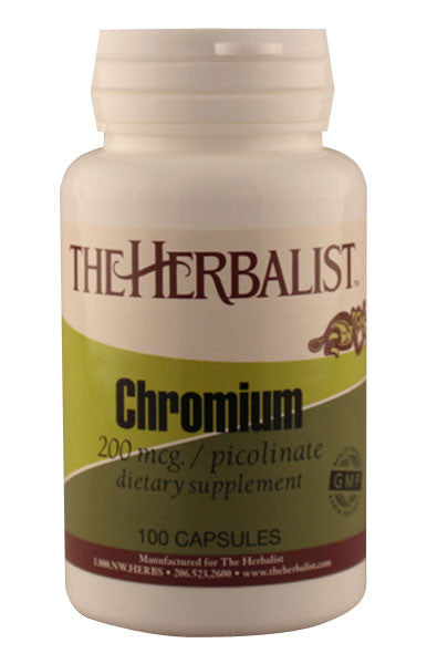 Chromium Picolinate 100 capsules - Herbalist Private Label