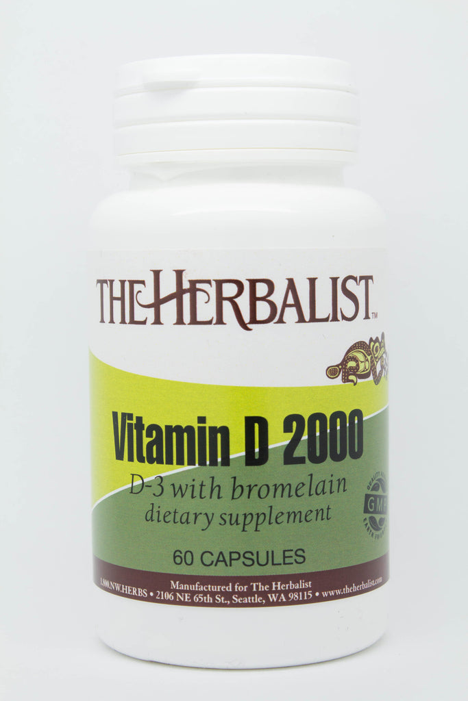 Vitamin D 2000 - 60 Caps - Herbalist Private Label