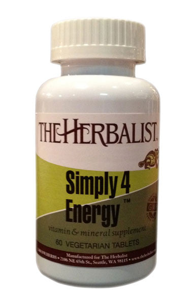Simply 4 Energy 60 tablets - Herbalist Private Label
