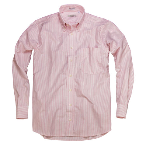 Ivy League Oxford <br> Button Down Shirt <br> Pink Stripe