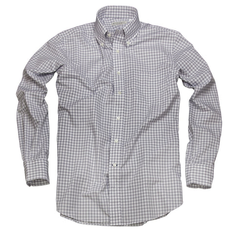 Litchfield Gingham <br> Button Down Shirt <br> Gray