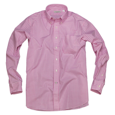 Litchfield Gingham <br> Button Down Shirt <br> Pink