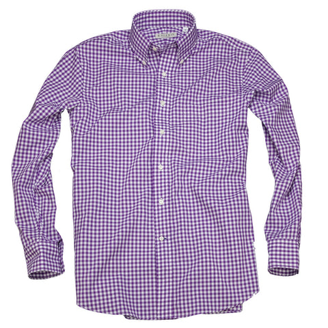 Litchfield Gingham <br> Button Down Shirt <br> Purple