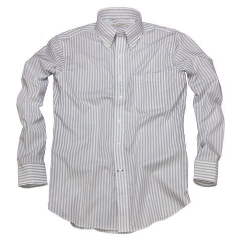 Litchfield Stripe <br> Button Down Shirt <br> Gray