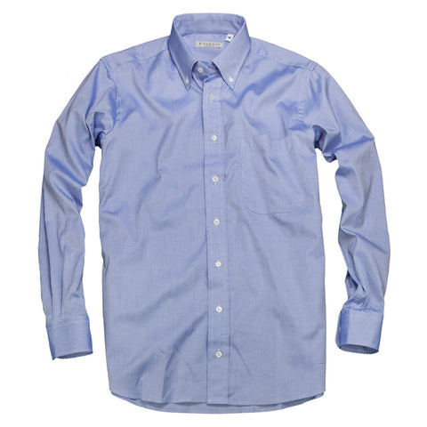 Prep School Oxford <br> Button Down Shirt <br> Mid Blue