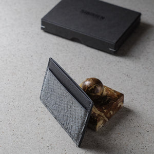 Sibirien stockholm gray salmon leather minimalist card holder