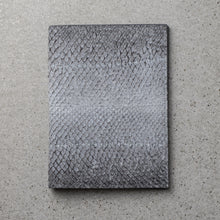 Load image into Gallery viewer, Sibirien stockholm salmon fish leather minimalist pass port holder himalayan gray