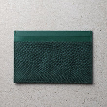 Load image into Gallery viewer, Sibirien stockholm salmon fish leather minimalist pass port holder green