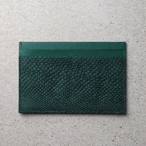 Sibirien stockholm salmon fish leather minimalist pass port holder green