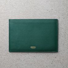 Load image into Gallery viewer, Sibirien stockholm salmon leather minimalist pass port holder green