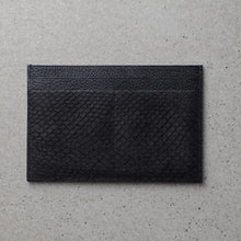 Load image into Gallery viewer, Sibirien stockholm salmon fish leather minimalist pass port holder black