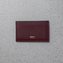 Load image into Gallery viewer, Sibirien stockholm salmon fish leather minimalist card holder Bordeaux