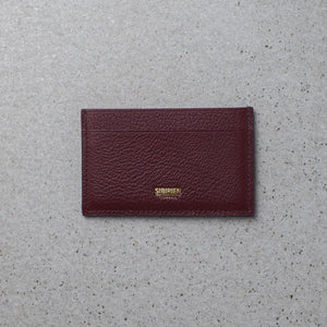 Sibirien stockholm salmon fish leather minimalist card holder Bordeaux
