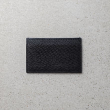 Load image into Gallery viewer, Sibirien stockholm salmon leather minimalist card holder black