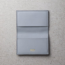 Load image into Gallery viewer, Sibirien Stockholm salmon fish leather card holder himalayan gray