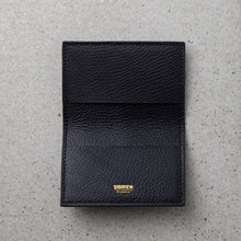 Load image into Gallery viewer, Sibirien stockholm salmon fish leather card holder black