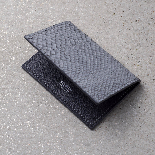 Sibirien stockholm salmon leather card holder gray