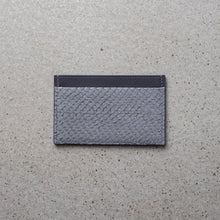 Load image into Gallery viewer, Sibirien stockholm salmon leather minimalist card holder gray