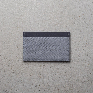 Sibirien stockholm salmon leather minimalist card holder gray