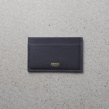 Load image into Gallery viewer, Minimalist card holder gray salmon leather