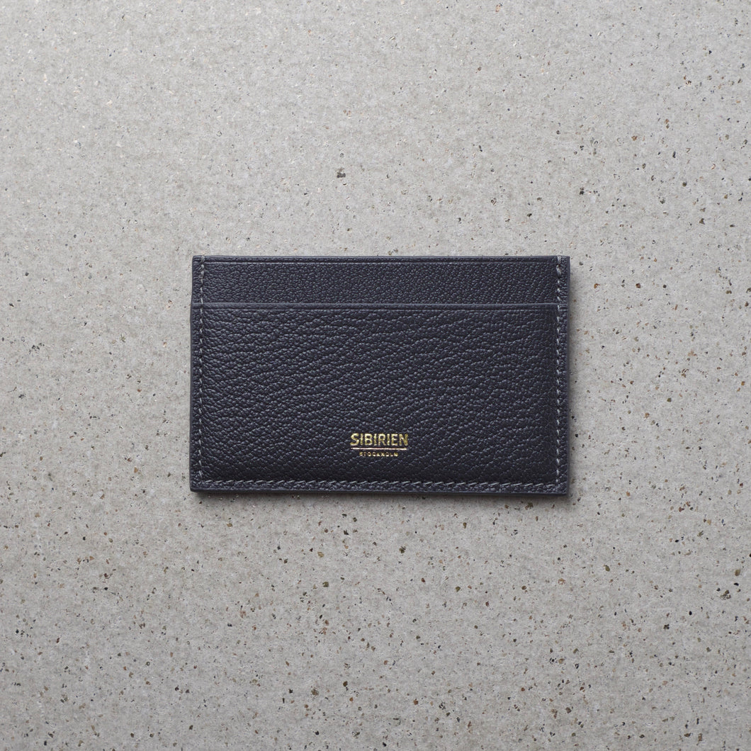 Minimalist card holder gray salmon leather