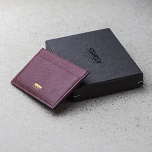 Sibirien stockholm salmon leather minimalist card holder Bordeaux