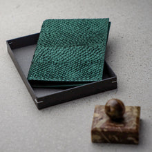 Load image into Gallery viewer, Sibirien Stockholm salmon fish leather pass port holder green