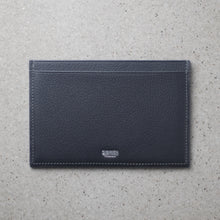 Load image into Gallery viewer, Minimalist travel wallet gray salmon leather