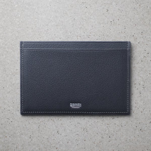 Minimalist travel wallet gray salmon leather