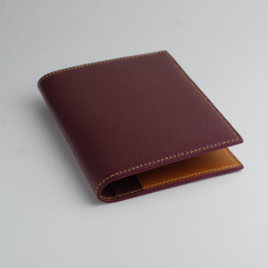 Travel wallet burdux and cognac leather