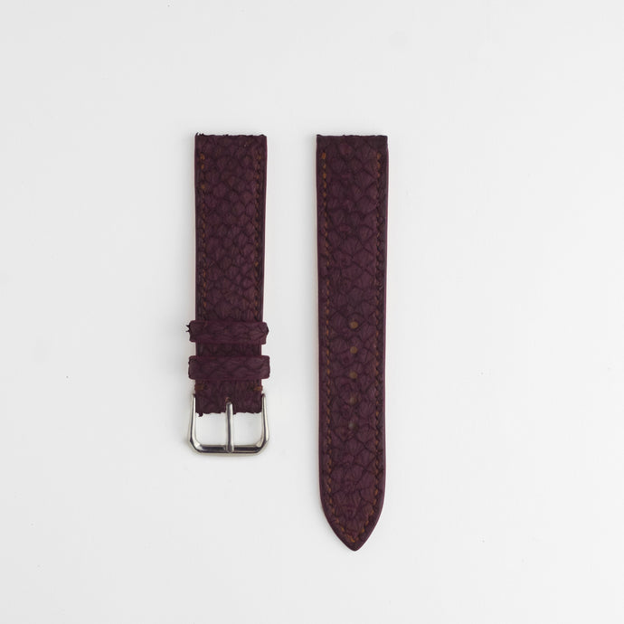 Sibirien Stockholm salmon leather watch strap bordeaux