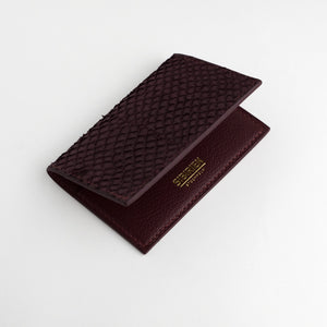 Bordeaux salmon card wallet
