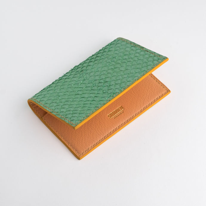Turquoise salmon card wallet