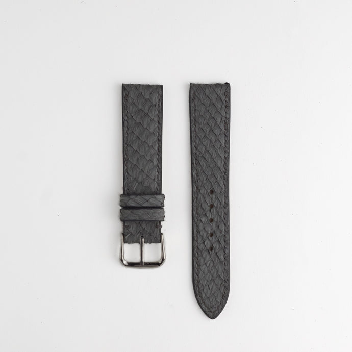 Sibirien Stockholm salmon leather watch strap gray