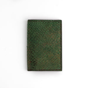 Green and copper salmon card wallet