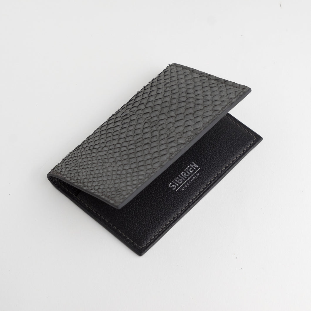 Gray salmon card wallet