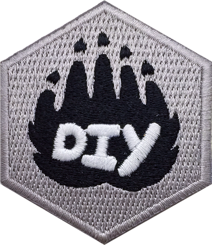 DIY Paw (Gray) Badge
