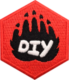 DIY Paw (Red) Badge