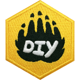 DIY Paw (Yellow) Badge