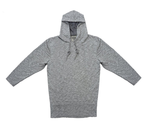 Elongated French Terry Hoodie Slub