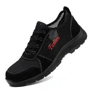 Anti-smashing steel toe caps work shoes Mens Apparel > Male > Shoes > Work Shoes Oak Bay Shoes Single net 5.5