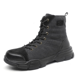 SOLID Durable Safety Boots 2021 Spring Steel Toe Boots