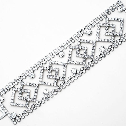 Diamond Rhinestone Art Deco Bracelet