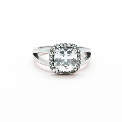 Cushion Cut Rhinestone Diamond Ring