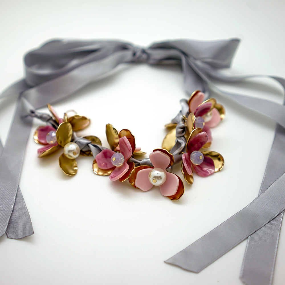 Floral Garland Necklace - 24 Inches