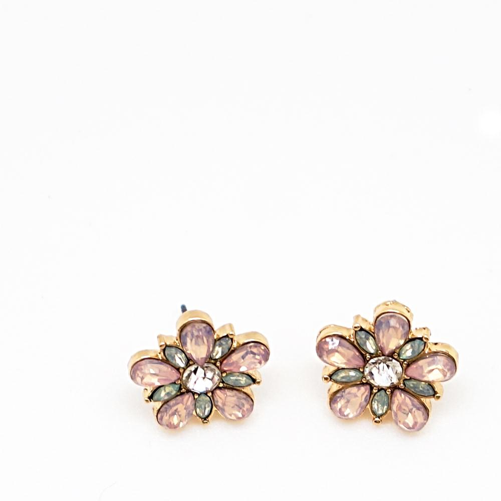 Pink Floral Studs