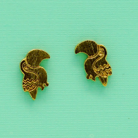 Vintage Toucan Stud Earrings