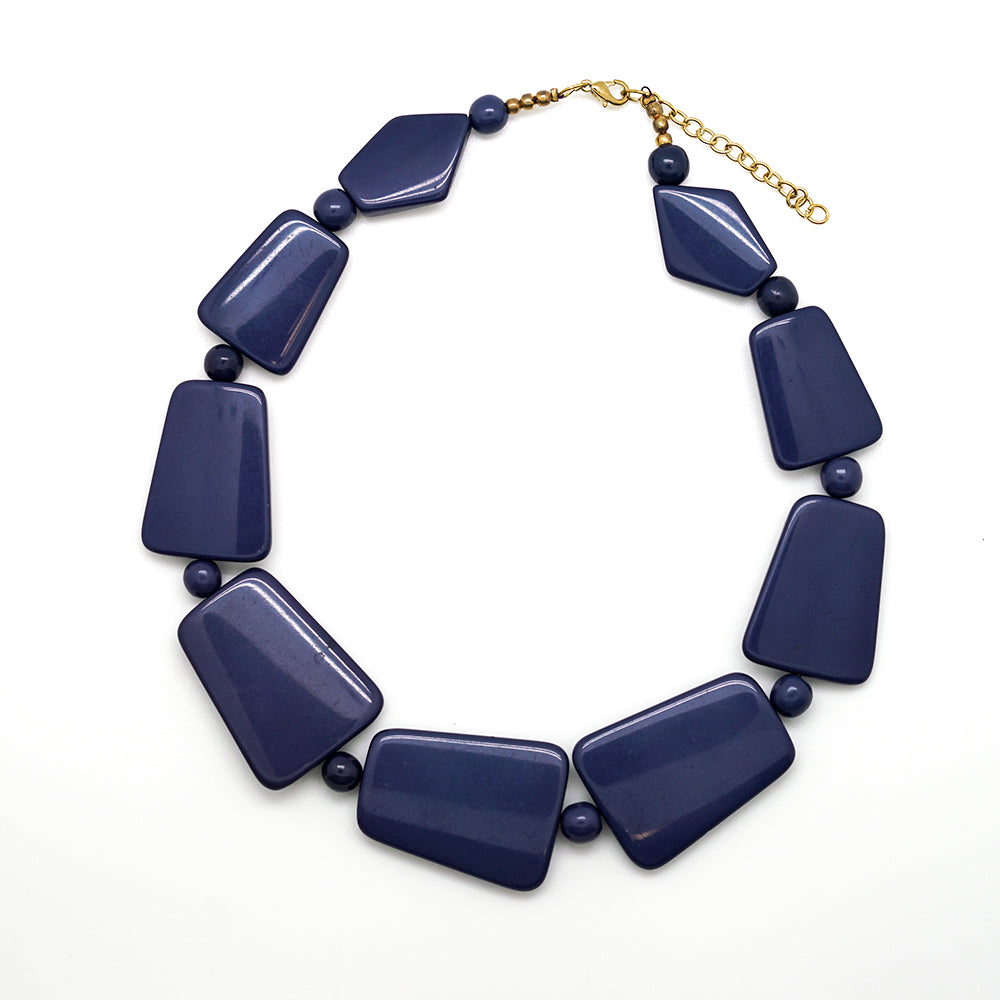 Blue Graduated Necklace - 18 Inches