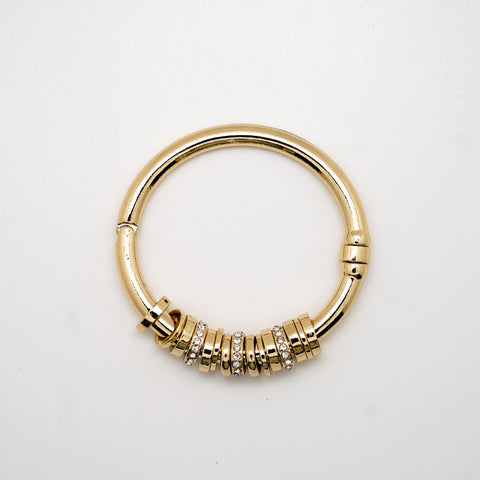 Gold and Rhinestone Rattle Bracelet